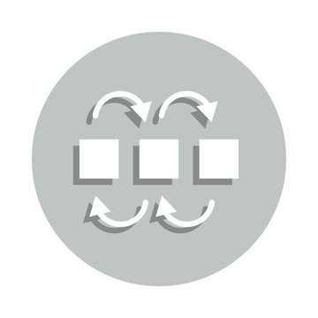 dependency modeling badge icon. Simple glyph, flat vector of Business icons for ui and ux, website or mobile application