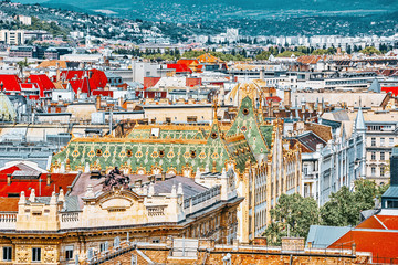 Wall Mural - Center of Budapest, View from the St.Stephen Basilica