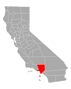 Karte von Los Angeles in Kalifornien