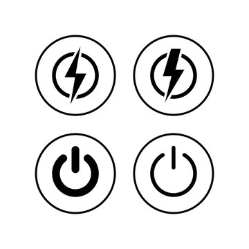 Power icons set. Power Switch Icon. Start power icon
