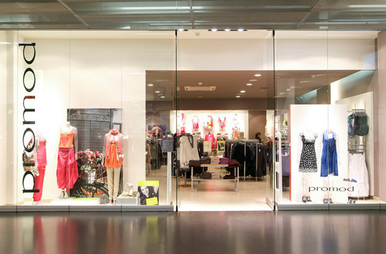 interior of Promod fashion clothes store