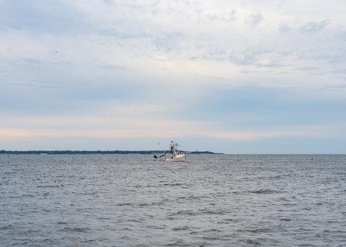 Shrimper in the Bay