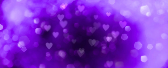 Fototapete - Abstract purple background with hearts - concept Mother's Day, Valentine's Day, Birthday