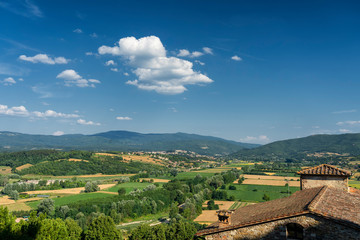 Wall Mural - Landscape from Poppi, Tuscany