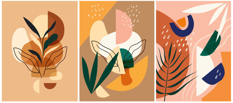 Abstract colorful vector illustrations. Abstract compositions, design for posters