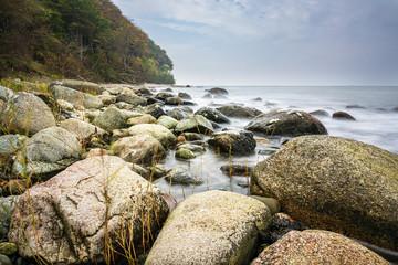 Fototapete - Die Ostseeküste auf der Insel Rügen im Herbst