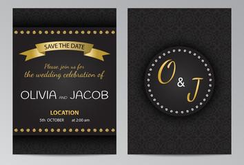 Wedding invitation brochure template