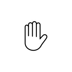 hand stop icon, hand stop sign and symbol vector Design