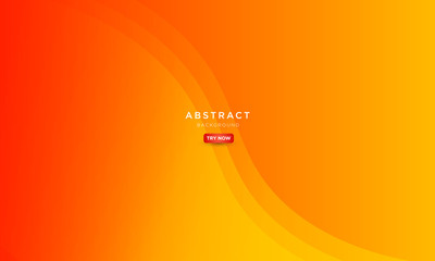 abstract minimal background with orange color, beautiful symmetrical wave background. Wall mural