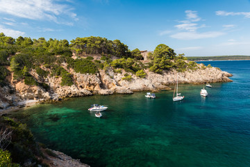 The rocky bay called Cala di Monte Tundu near Alghero (Sardinia, Italy)