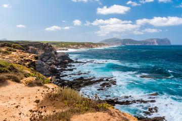 Rocky coastline in northwestern Sardinia between Portoferro and Capo Caccia