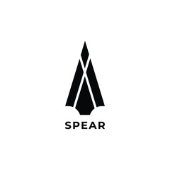 spear head  logo icon design