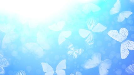 Foto auf AluDibond Schmetterlinge im Grunge Beautiful gradient background with butterflies and highlights