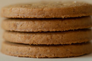 Layers of digestive biscuits