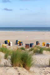 Wall Mural - Early morning at the beach on Juist, East Frisian Islands, Germany.