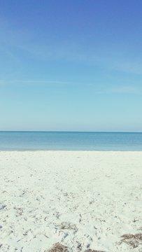 Idyllic Shot Of Beach By Sea Against Sky At Lido Key