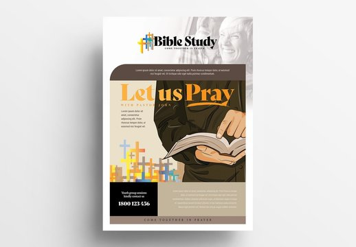 Bible Study Flyer Layout