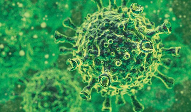 Illustration of the Corona Virus Variation Scene