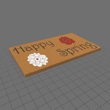 Happy spring doormat