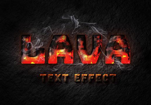 Lava Text Effect