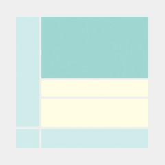 Mondrian style art colorful logo design illustration
