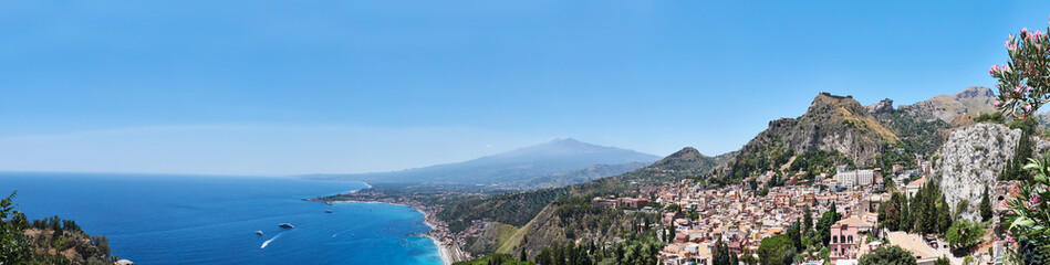 Panorama Taormino Fototapete