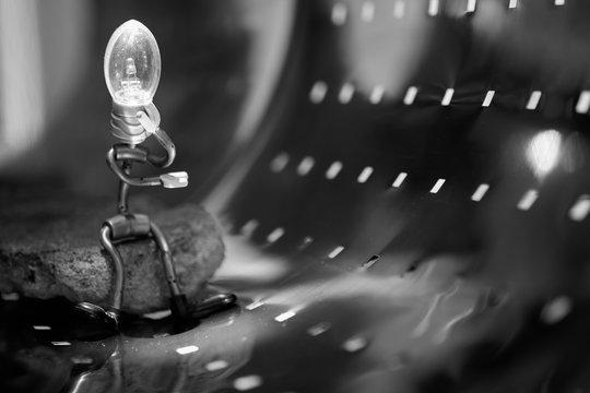 Light Bulb Headed Figurine