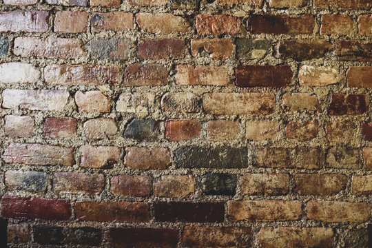 brick wall background for use on websites, social media, blogs, Zoom, etc. - plenty of copy space for text