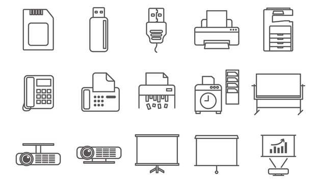 Vector illustration for brochure, ads, and web, line icons