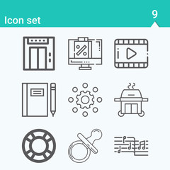 Simple set of drifting related outline icons.