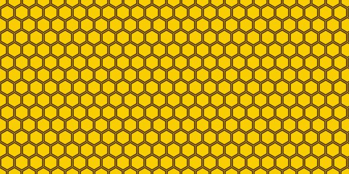 yellow honeycomb pattern background