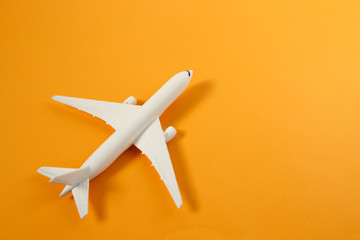 Poster Airplane Model plane,airplane on pastel color background