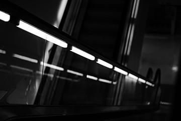 Fototapeta Row Of Illuminated Fluorescent Lights obraz