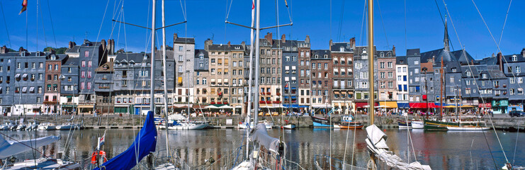 The Inner Harbour at the fishing port of Honfleur in Normandy France Fotomurales