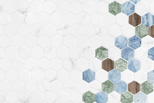 Modern hexagon tiled background
