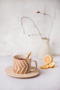 Cup of Tea with Lemons