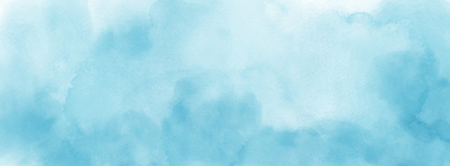 Abstract light blue watercolor for background Fotomurales