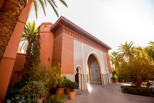 Beautiful arch in moroccan city
