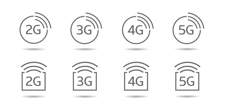 3g internet vector icons