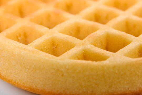 sweet waffles dripped with golden honey