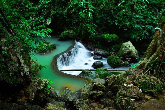 Curug Bibijilan waterfall at Sukabumi, West Java, Indonesia