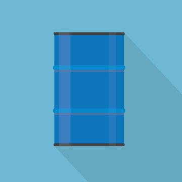 blue metal barrel icon- vector illustration