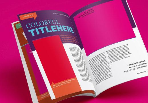 Colorful Magazine Layout