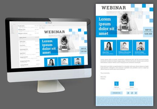 Webinar Social Media Newsletter Layout
