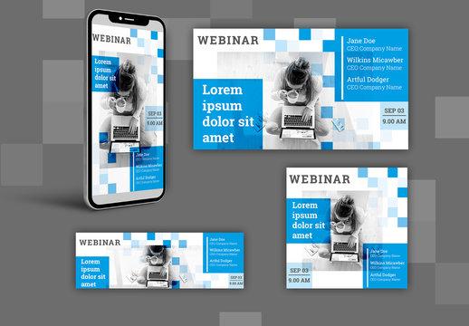 Webinar Social Media Banners Layout