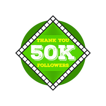 Thank you milestone followers design.Thank you followers congratulation card. Vector illustration for Social Networks. Web user or blogger celebrates a large number of subscribers. - Vector