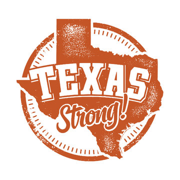Vintage Texas Strong Rubber Stamp