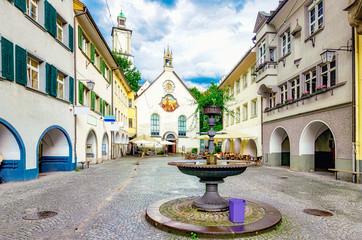 Marktgasse von Feldkirch in Vorarlberg, Österreich Fototapete