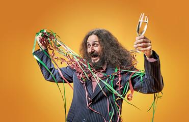 Foto op Aluminium Artist KB Portrait of a party man