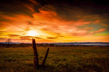 Papiers peints Orange eclat zachód słońca, Jasna Góra